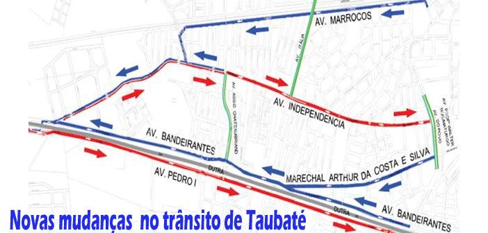 Veja as novas mudanças para  trânsito de Taubaté
